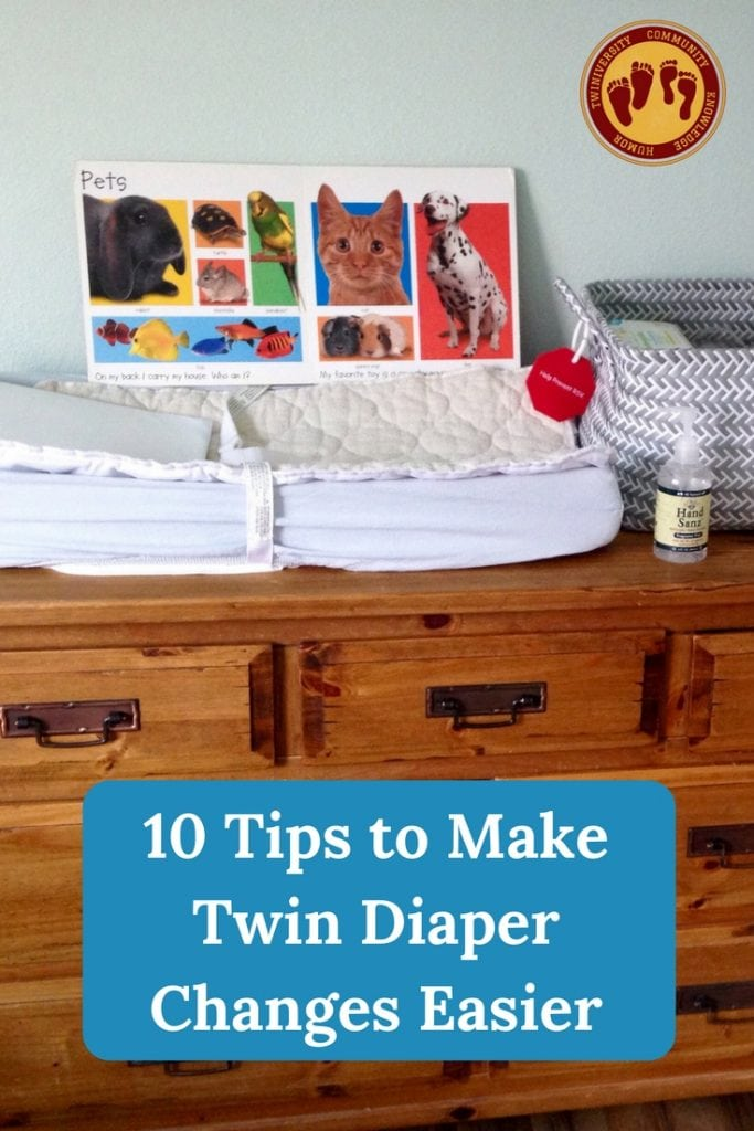 twin diaper changes