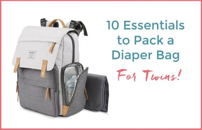 10 essentials to pack a diaper bag for twins
