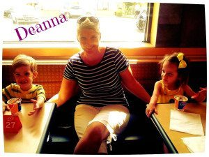 Deanna with her twins Liam and Liah!
