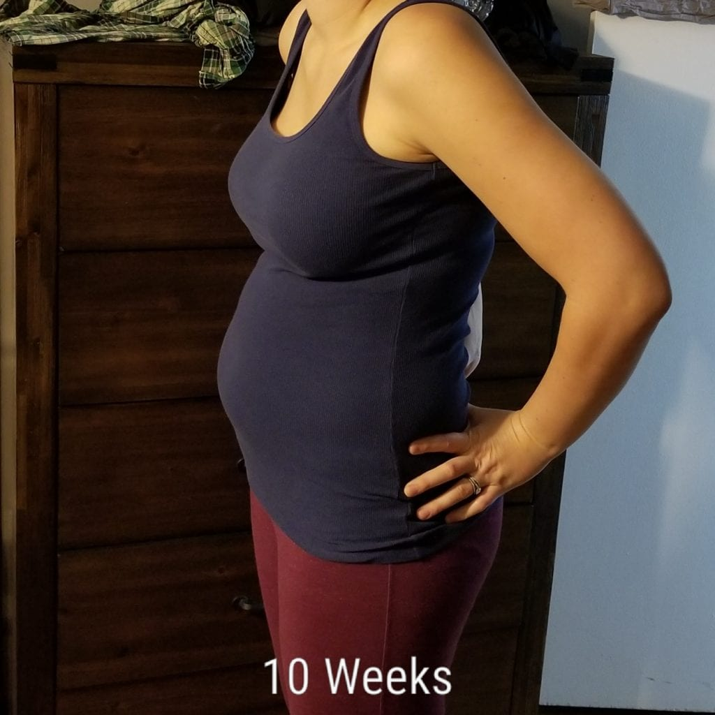 10 weeks pregnant with twins