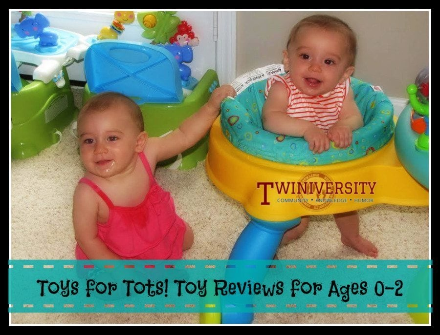 A mom shares her twin babies' favorite toys for age 0-2 and explains the pros and cons of each product, including tips on toy shopping.