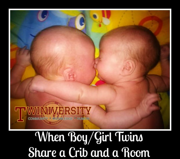 When Boy/Girl Twins Share a Crib and a Room