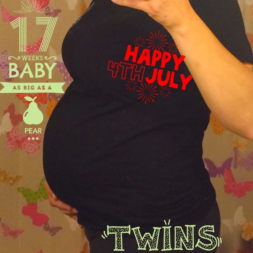 17 weeks pregnant with twins