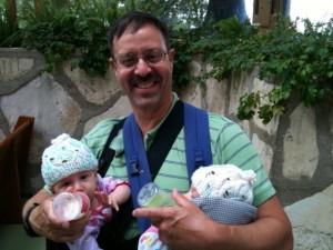 babywearing twins