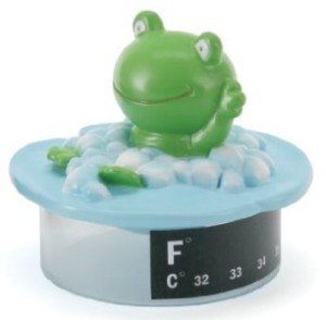 frog thermometer bath