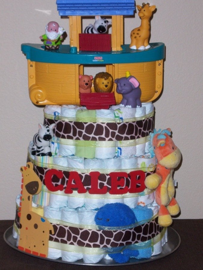 Twins baby shower themes and ideas for Noah s ark decorations
