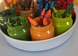 baby jars & crayons