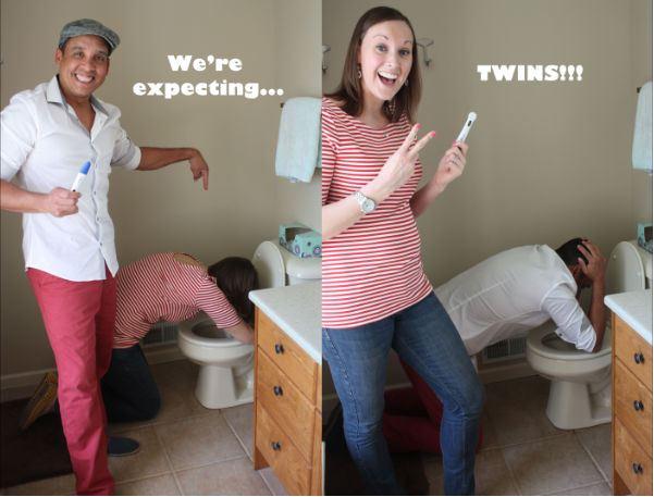 Twin / Triplet Pregnancy Announcement ideas