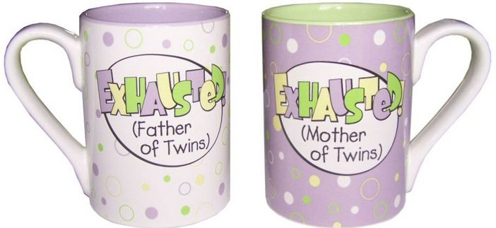 10 Tips for Sleep-Deprived Parents exhausted mother of twins mug