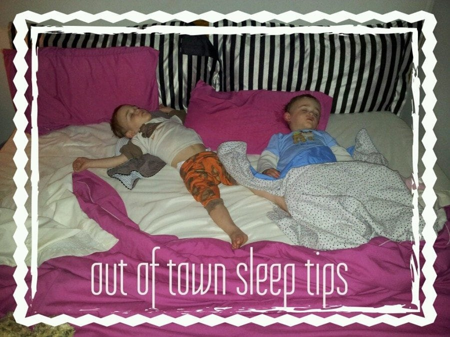 Out of Town Sleep Tips