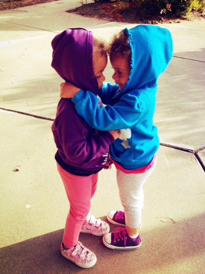 love having twins 2 year old twin girls