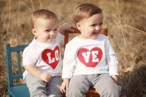 valentine's day twins kids