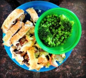 toddler food broccoli peas