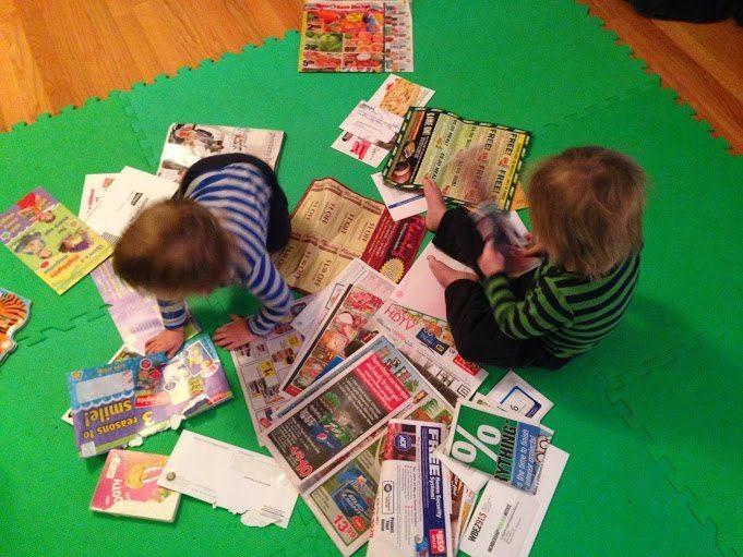 junk mail playtime fun