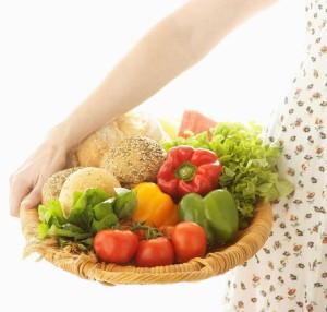 veggies eating for three