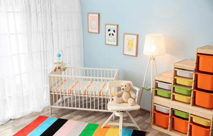 Separate Bedrooms for Twins baby nursery crib
