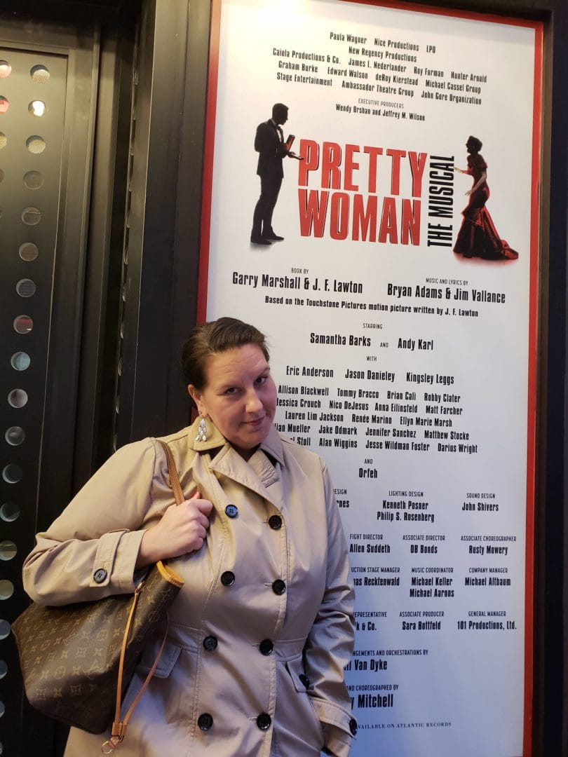 Natalie at the Pretty Woman musical
