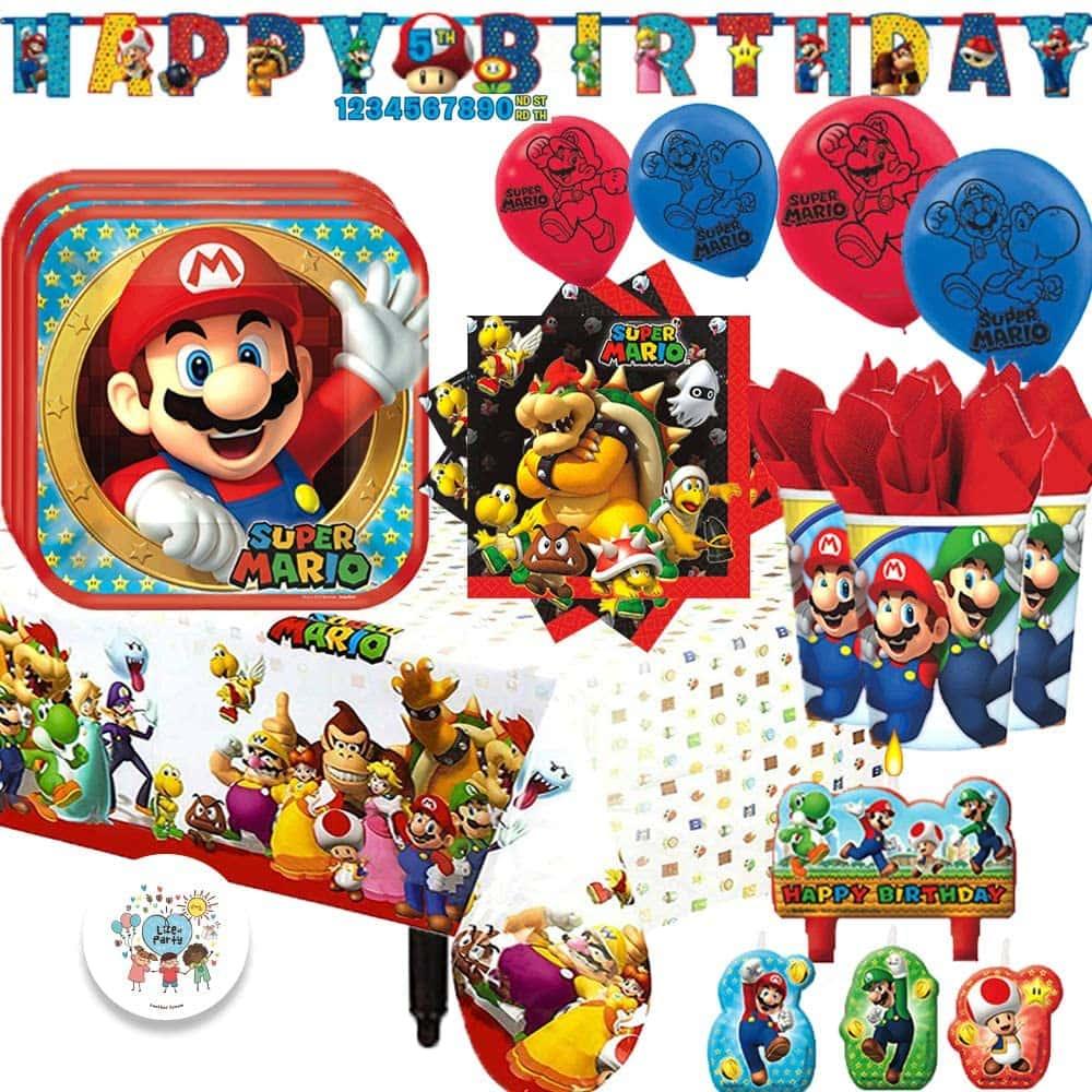 twins' birthday mario and luigi themed birthday decorations