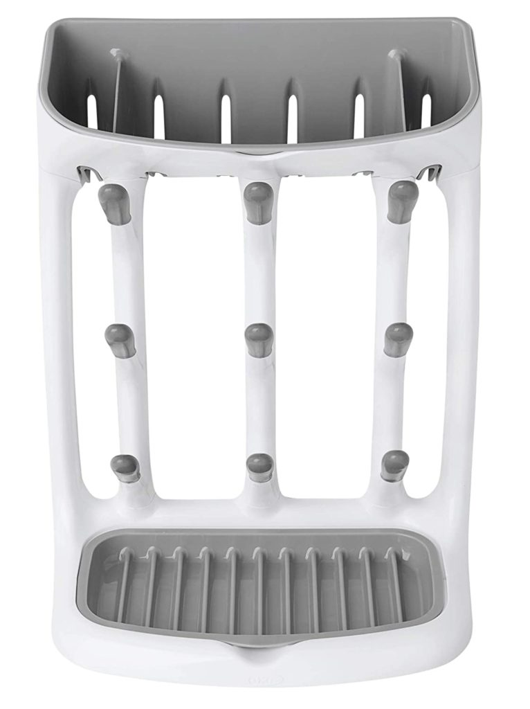 baby bottle drying rack white upright bottle drying rack with a tray for small parts on top