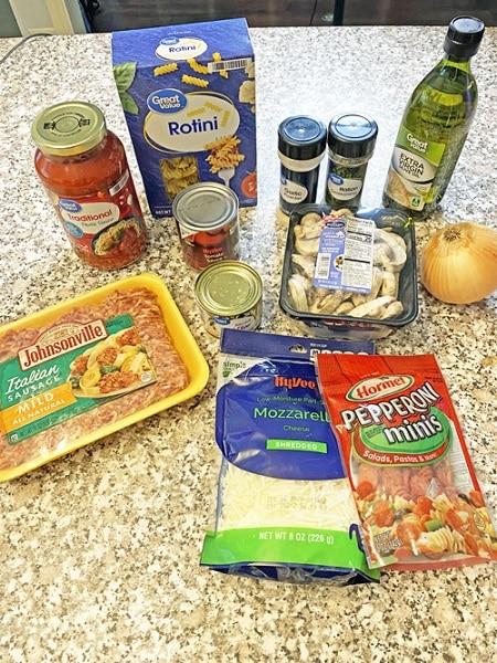 30-minute pizza pasta ingredients
