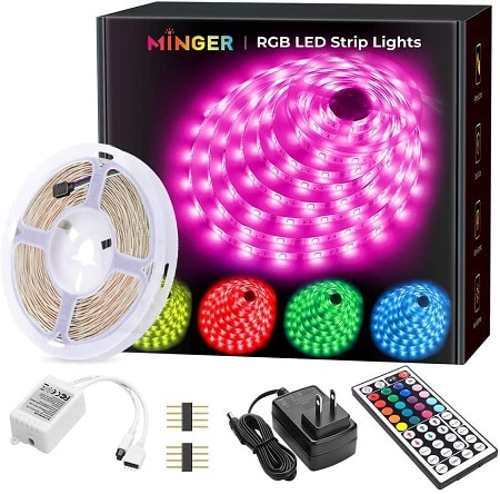 remote learning space string or strip lights to hang