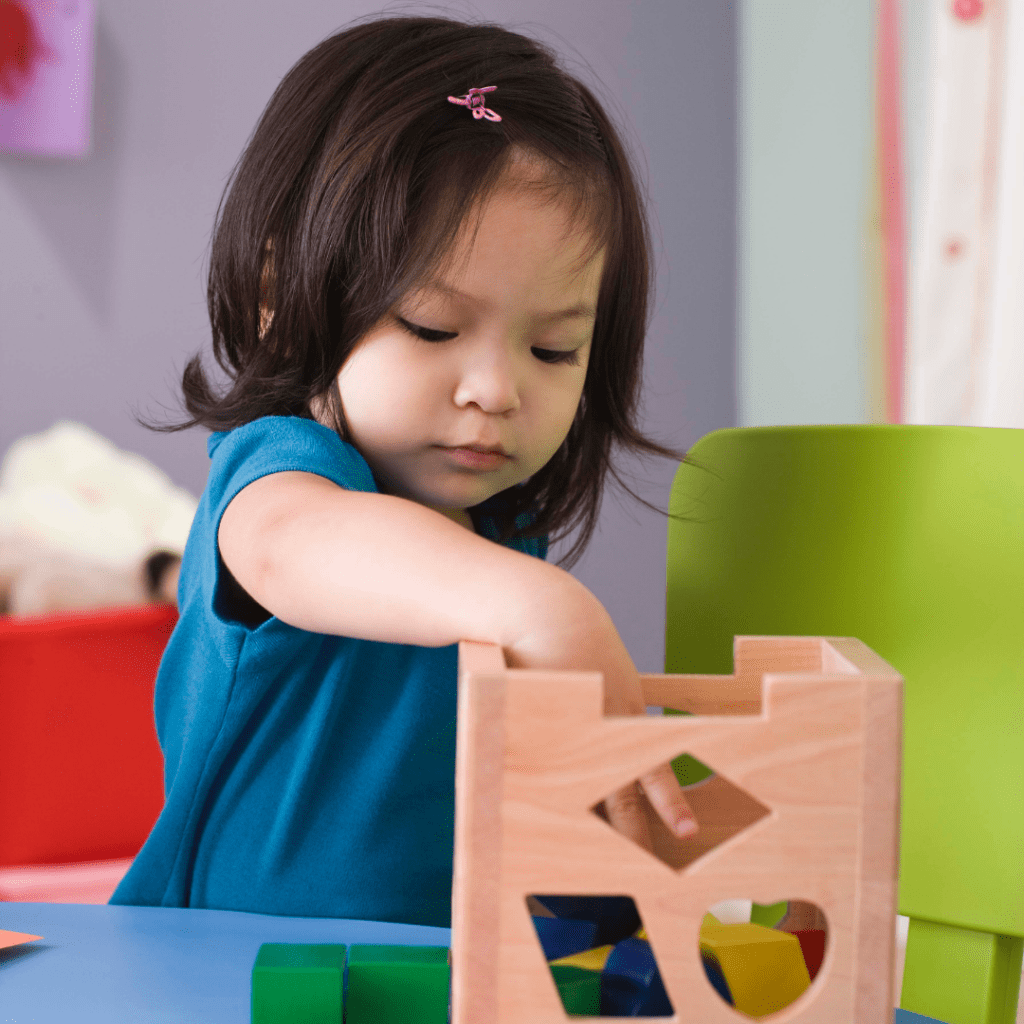 Play centers toddler with shape sorter
