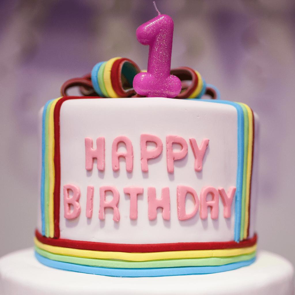 twins' birthday 1st birthday cake
