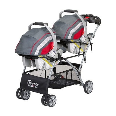 newborn twins stroller double stroller with two infant car seats