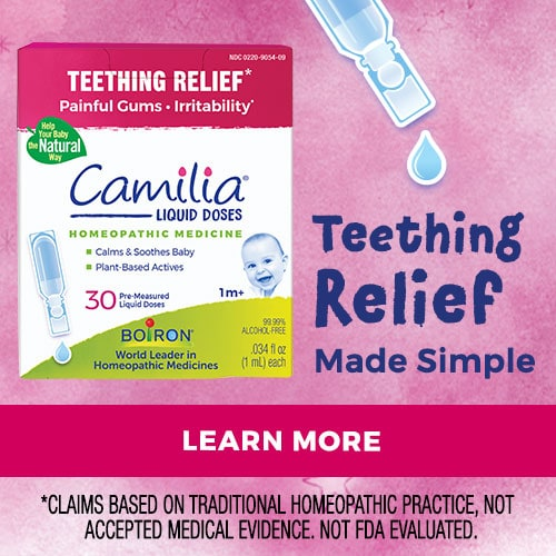 camilia teething relief boiron teething trouble