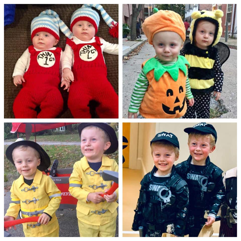 montage of twin boys dressed for halloween twin boys halloween costumes
