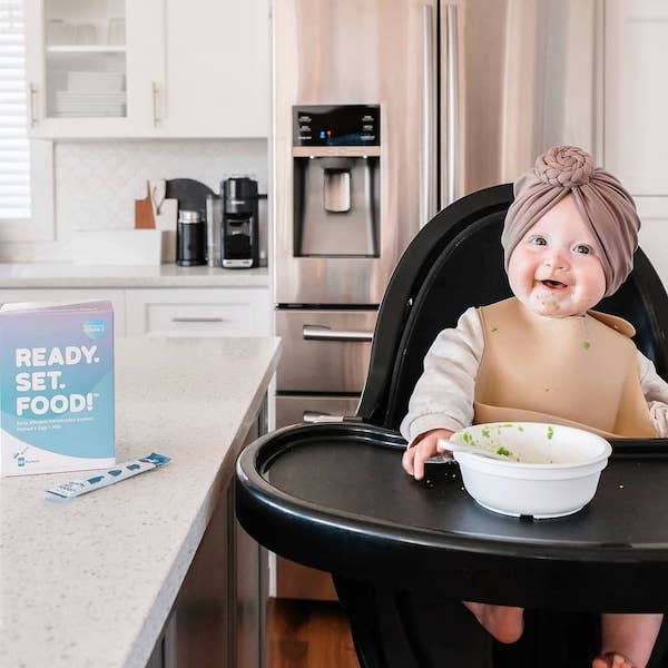 baby in a high chair ready set food food allergies for babies