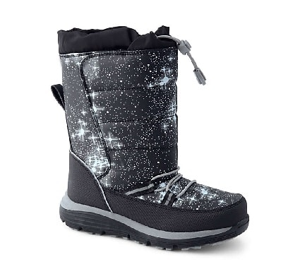 toddler snow boots black sparkly child snow boot