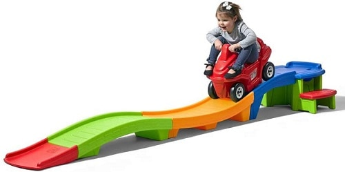 hot toys 2020 ride on toy with girl riding on slide