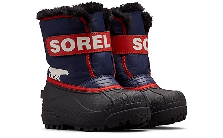 toddler snow boots blue and red childrens snow boots with velcro closure
