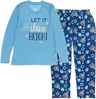 matching christmas pajamas 2 piece set of blue hanukkah pjs
