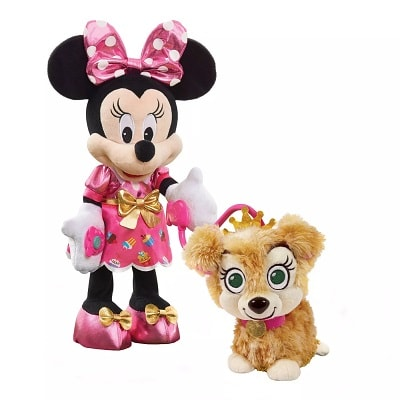 hot toys 2020 plush minnie mouse and puppy