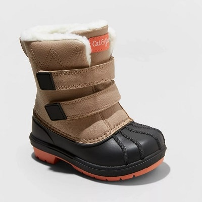 toddler snow boots child's snow boot with velrco closure
