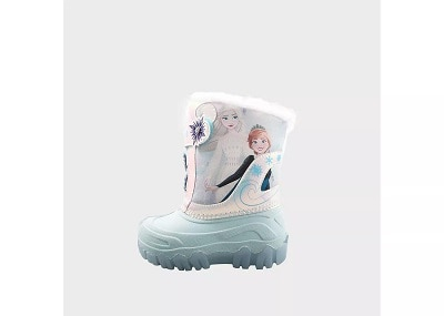 toddler snow boots a light pink and blue Frozen childs snow boot
