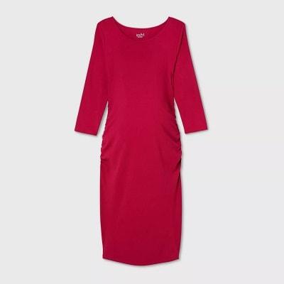 maternity baby shower dress a dark pink dress