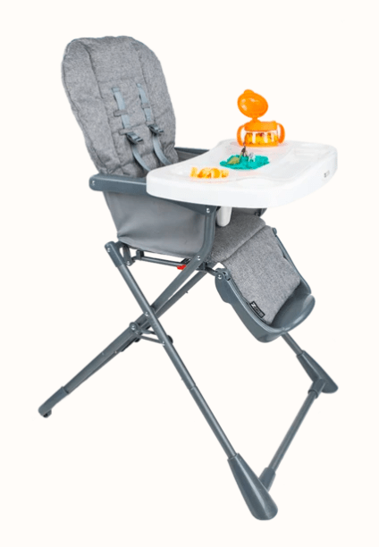 starting baby food Zoe fold-away high chair