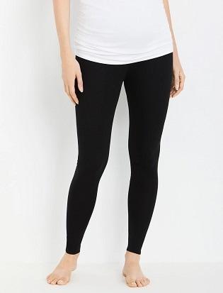 maternity leggings a woman wearing black leggings