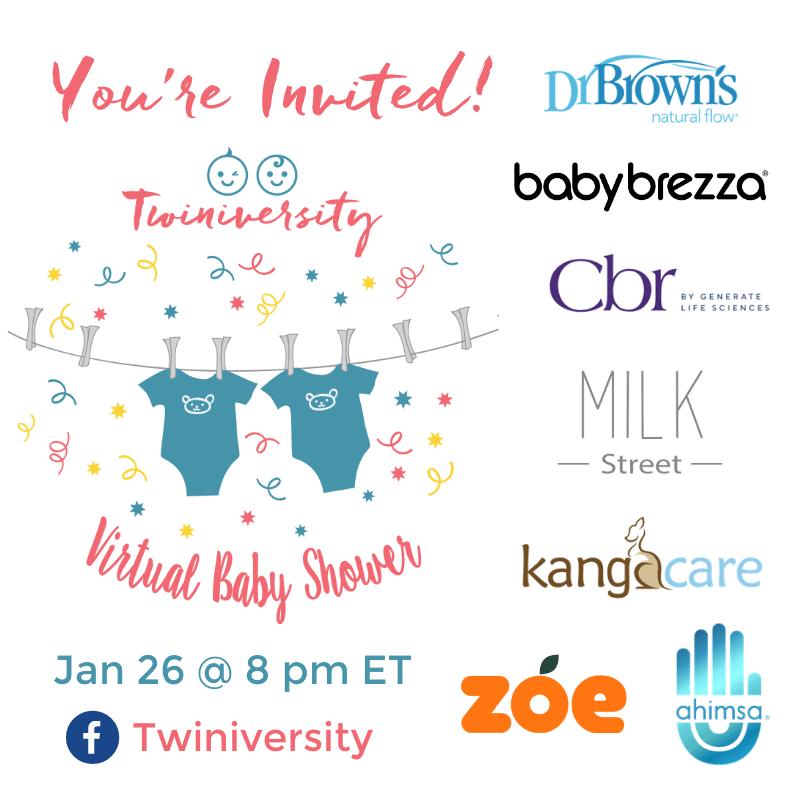 virtual baby shower twiniversity