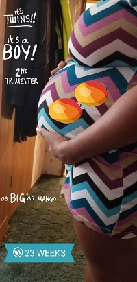 23 Weeks Pregnant with Twins