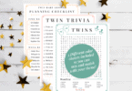 Twin Baby Shower Planner + Twin Pregnancy Printables @ Twiniversity Etsy Shop