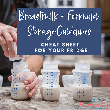 breastmilk and formula storage guidelines graphic