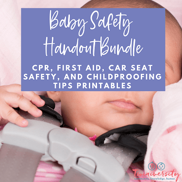 baby safety handout bundle graphic