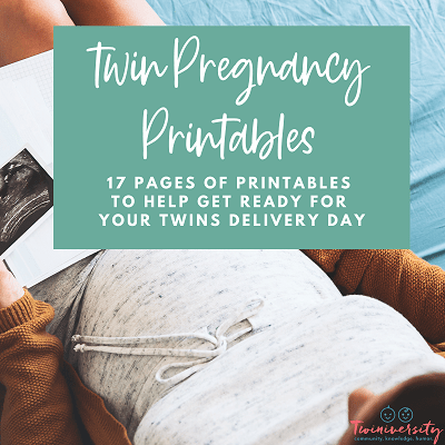 Twin pregnancy printables graphic