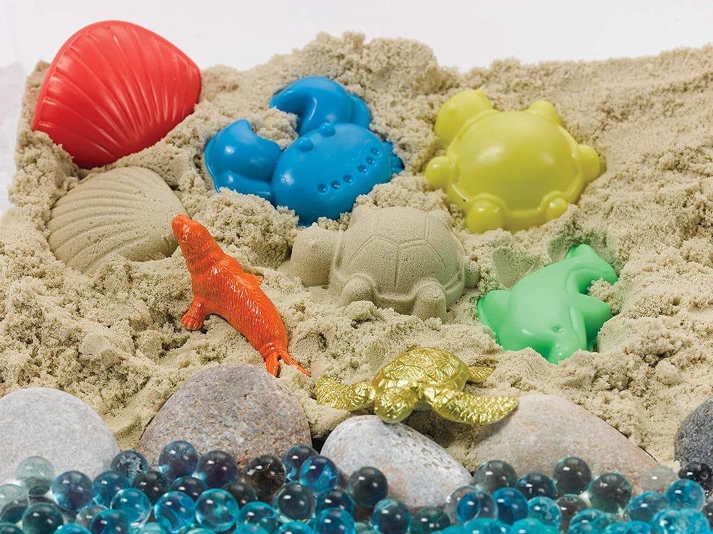 ocean themed sensory bin for toddlers