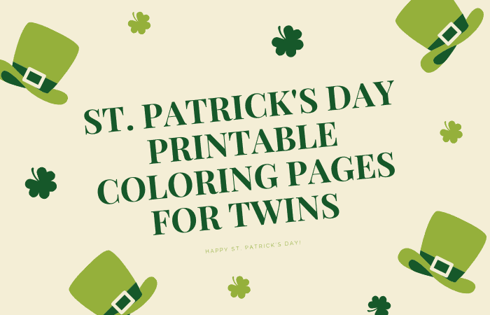 st. patrick's day coloring pages for twins
