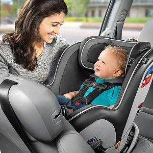 baby in a rear-facing car seat